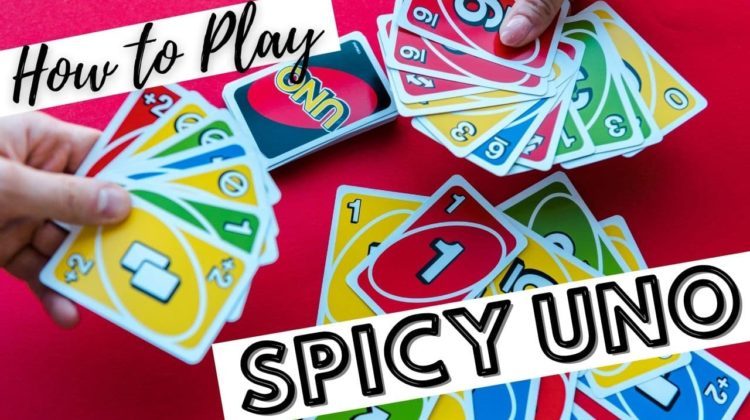 UNO card game variation - see how to play Spicy Uno!