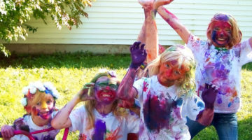 Backyard Game Ideas: Messy Kids Food Games